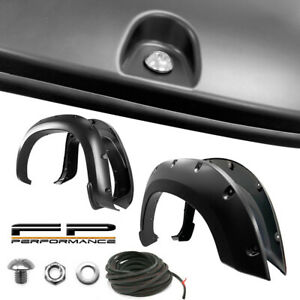 For 19 20 Chevy Silverado 1500 Paintable Smooth Black Pocket Rivet Fender Flare