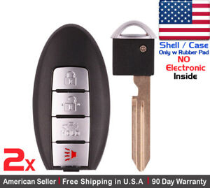 2x New Replacement Keyless Entry Remote Key Fob For Nissan Rogue Shell Case