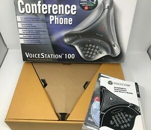 new Polycom Voicestation 100 Conference Phone W power Supply
