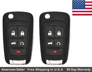 2x New Replacement Remote Control Key Fob For Buick Chevy Gmc Oht01060512