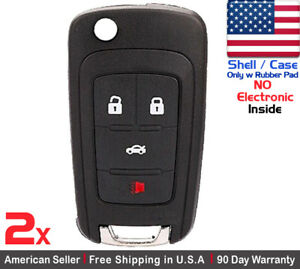 2x New Replacement Remote Key Fob Case For Chevy Buick Gmc Shell Case Only
