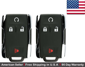2 New Replacement Keyless Key Fob Remote For Chevy Gmc M3n 32337100