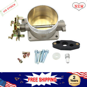 Polished Throttle Body 75mm 75 Mm Direct Fit For 96 04 Ford Mustang Gt 4 6l Sohc