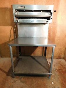 Used Garland 36 Gas Salamander Broiler Range Mount W Table