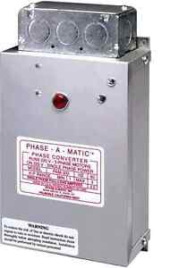 Phase a matic Static Phase Converter Horse Power 4 8 Pam 900