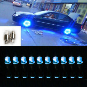 8pcs Tire Valve Stem Lights Blue Car Wheel Cap Vehicle Led Safer Accessories