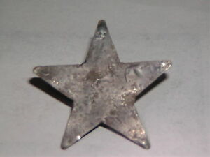 Primitive 2 Feather Tree Tin Star Tree Topper