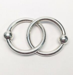 Tiffany Co Sterling Silver Double Ring Baby Rattle
