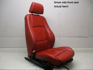 07 To 13 Bmw 328i 335i Left Driver Lh Front Bucket Seat Red Sport Coupe Oem