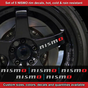Nismo Rim Decal Sticker Adhesive All Nissans 5 Decals Wheels Handles 2 5srt Etc
