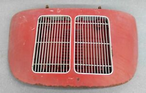 Nice Used Original Porsche 356a 356b Coupe Engine Lid W Twin Grill Red 15 Nla