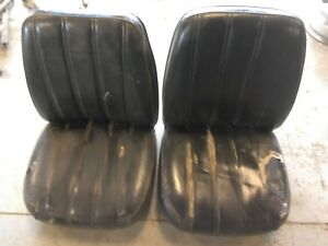 Low Back Bucket Seats Pair Chevy Gmc Ford Dodge C 10 F100 F150 Utility