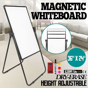 Mobile Dry Erase Board 36 24 Magnetic Single Sided Whiteboard Stand