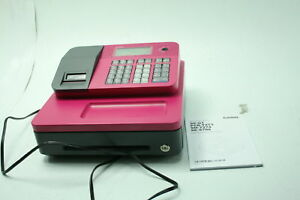 Casio Se g1sc pk Electronic Cash Register Pink Builtin Rear Customer Lcd Display