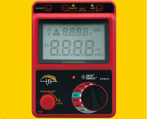 High Voltage 2500v Insulation Resistance Tester Meter Megger Range 49 9gohm