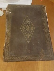 Antiqe1844 Imperial Family Bible Printed By Blackie And Son Of Glasgow