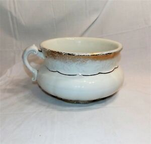 Antique Vintage Chamber Pot Knowles Taylor Knowles Semi Viterous Porcelain