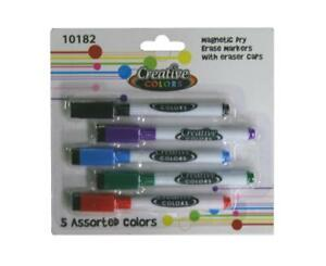 Dry Erase Markers 5 Pack In Assorted Colors Case Of 24
