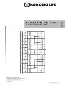 New Holland 8200 Sf Field Cultivator Tine And Harrow Layouts Operators Manual