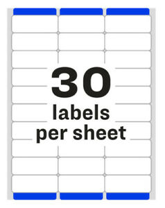 Avery 8160 8460 Address Labels 30 Labels sheet 150 300 600 Labels