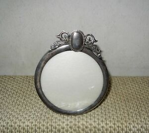 Small Antique Sterling Silver Picture Frame