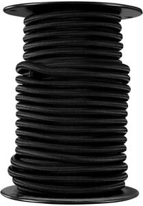 3 8 In X 75 Ft Bungee Cord Reel Weather Resistant W Heavy Duty Rubber Black