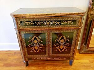 Antique Liquor Cabinet Glass And Wood