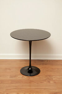 Knoll International 20 Round Tulip Side Table Eero Saarinen Custom Black Paint