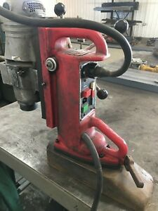 Milwaukee 4231 Magnetic Base Drill W Milwaukee 4291 1 Drill Motor