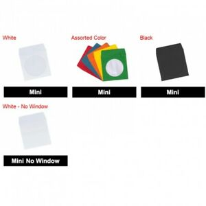 Mini Paper Cd Sleeves With Window Flap For 8 Cm 3 1 In Cds