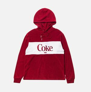 KITH WOMEN X COCA-COLA TERRY HOODIE RED Size S Small BRAND NEW