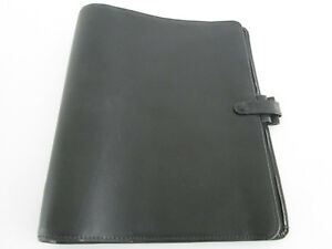 Vintage Filofax Organiser Deskfax Size Windsor Black Leather
