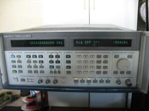Hp 8664a Synthesized Signal Frequency Generator 10khz 3ghz W options 004