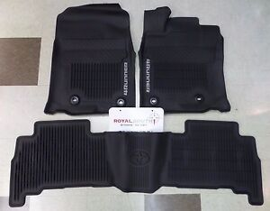 Toyota 4runner 2013 2019 All Weather Floor Liners Genuine Oem Oe