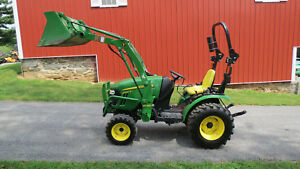 2014 John Deere 2025r 4x4 Compact Utility Tractor W Loader Hydrostat 83 Hours