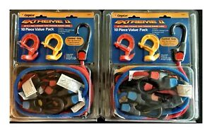 2 Cargoloc 82451 Bungee Cords Assortment W Extreme Rubberized Hooks 10 piece