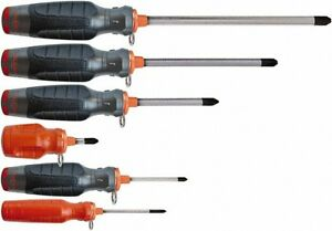Proto 6 Piece Phillips Screwdriver Set Tethered Handle