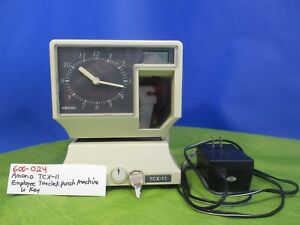 Amano Tcx 11 Employee Timeclock Punch Machine with Key 600 024