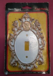 Vintage American Tack Deco Room Cameo Art Deco Switch Wall Plate Cover Nos 15tw
