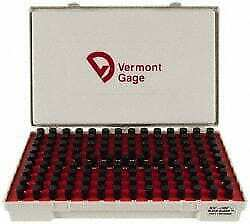 Vermont Gage 125 Piece 0 501 0 625 Inch Diameter Plug And Pin Gage Set Minus