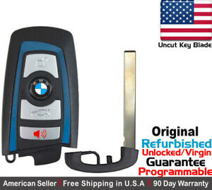 1 Oem Blue Replacement Keyless Remote Key Fob For Bmw Smart Proximity Ygohuf5767