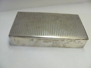 Vintage Mexico Sterling Silver Cigar Cigarette Wood Lined Box Eagle 21 Ormex