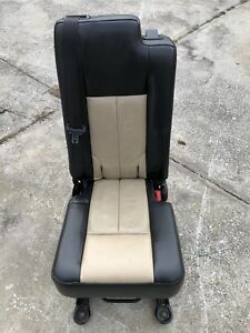 2003 2017 Navigator Expedition Second 2nd Middle Jump Seat Tan Black Leather