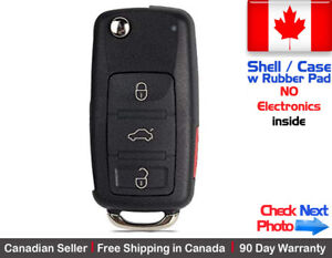 1 New Replacement Remote Key Fob Flip Case For Audi Volkswagen Shell Only