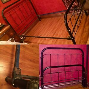 Antique Cast Iron Bed Vintage Wrought Iron Bed Full Size Loop