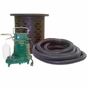 New Zoeller 108 0001 Crawl Space M53 Sump Pump System W 24 Hose Kit