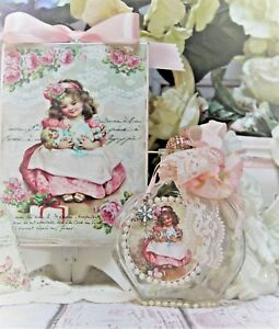 Shabby Chic Vintage Paris Decorative Perfume Bottle Wall Sign Christmas Gift