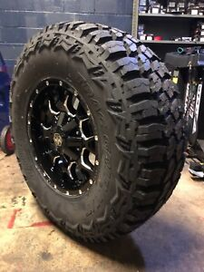18x9 Mayhem Warrior Wheels 35 Mt Tires Package 8x170 Ford F250 F350 Super