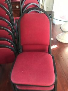25 Stackable Red Banquet ballroom Chairs