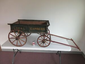 Antique Farm Wagon Carriage Buggy Toy Original Paint Decorated Pennsylvania 1895